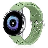 Runostrich Cinturino in silicone a sgancio rapido da 20 mm, compatibile con Galaxy Watch 42 mm, Active2, 44 mm, 40 mm, Pebble, Ticwatch, uomini e donne (20 mm, verde menta)