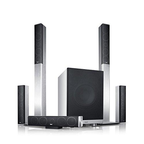 """Teufel LT 4 \""""5.1-Set M\"""" - Heimkino-Lautsprecher-Set mit Aluminium-Säulen in HiFi-Qualität"""