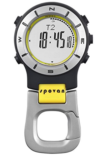 Pocket Watches Clip On Compass Altimeter Barometer Survival LED Digital Watch Quartz Unisex for Outdoor Activities