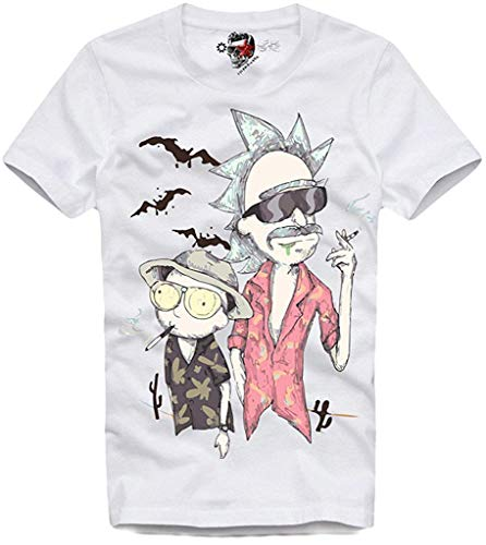 TopVip T-Shirt T Shirt Fear and Loathing in LAS Vegas Rick & Morty Inspired Costom Funny Tee White