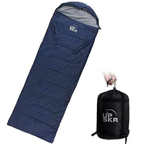 UPSKR Schlafsack mit Kompressionsbeutel,3-4 Jahreszeiten Schlafsack,Warm Winter Wasserdichter Leichter Deckenschlafsack,Reisen und Outdoor,Ideal für Erwachsene und Kinder-190x75 cm