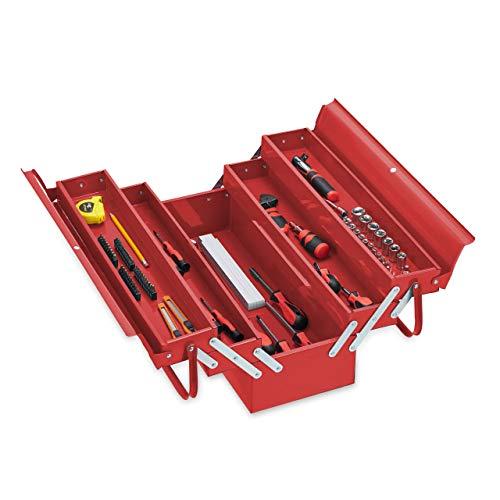 Relaxdays Werkzeugkoffer leer, 5...
