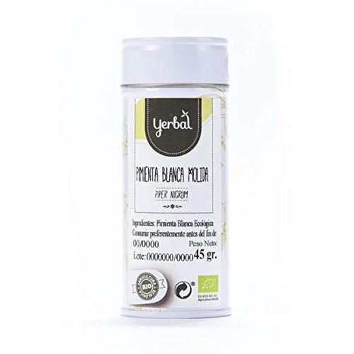Pimienta Blanca Molida Ecológica para condimentar platos Yerbal 45 g