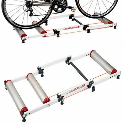 Rueda de entrenamiento de carreras, rueda de inercia plegable, para interiores y exteriores, para bicicleta de 16 a 29 pulgadas