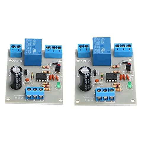 LAANCOO Interruptor líquido regulador del Nivel del Agua del Sensor 12V Nivel de automatización Detección de Bomba del Tanque de 2 Piezas
