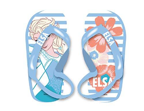 Frozen Disney Kinder Flip Flops Badeschuhe Pantolette Sandale Schuhe mit Riemen (22 EU, Frozen A01)