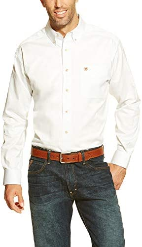 Ariat Men s Big Solid Twill Shirt White X Large Tall product image