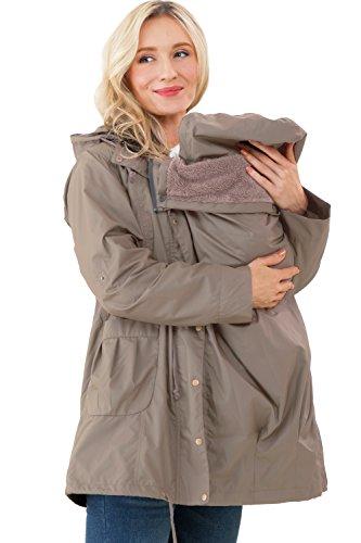 Manteau Capuche maternité/de Portage 8en1 et Veste de Pluie - Mustard Taille M