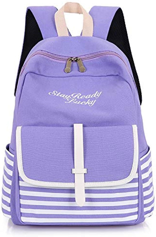 GGSDDU Mode Gestreiften Rucksack Tasche Groe Kapazitt Rucksack Schultaschen Für Jugendliche Langlebig Laptop Rucksack Reisetasche