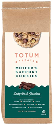 Totum Treats Lactation Cookie Mix for Breastfeeding, Relactation and Increase Supply - Delicious, Organic Cookie for Nursing Mothers & Families - Salty Dark Chocolate, 10 oz. Bag