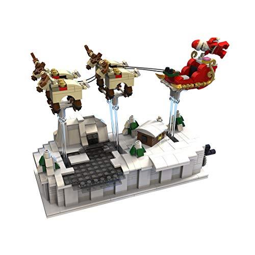 12che 759 Pezzi Alce di Slitta di Notte di Natale Natale Bricks Regalo Compatibile con Lego