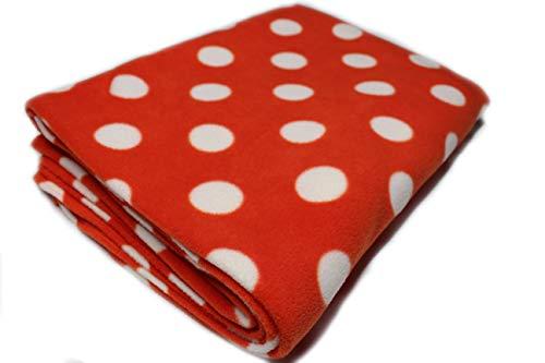 Polar Blankets Superweiche warme Fleece-Decke für Kinder, mit orangefarbenen Punkten