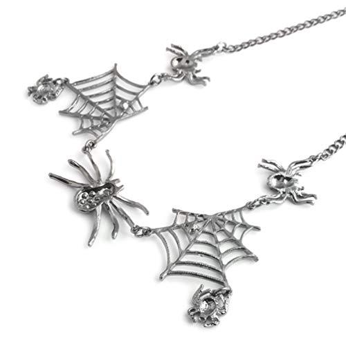 KYMLL Juego de collares con colgante de arañas creativas para Halloween y fiestas, accesorios para mujeres y niñas