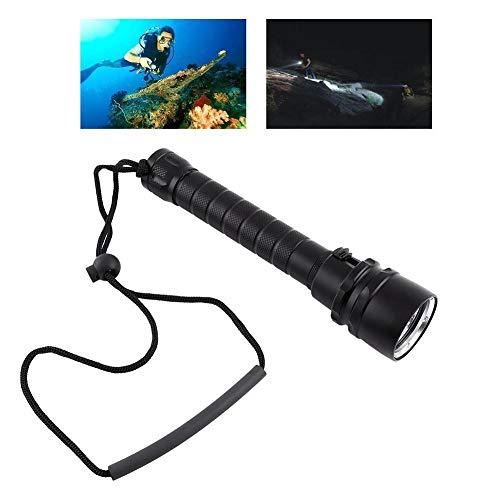 Bnineteenteam Linterna de Buceo, luz LED de Buceo, antorcha submarina Impermeable con Correa de Mano para Buceo, Acampada, Senderismo, Senderismo, Caza, Pesca