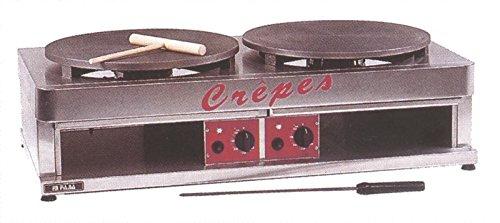 Crêpes-Eisen (Gas) mit 2 Backflächen, 900x480x270 mm,