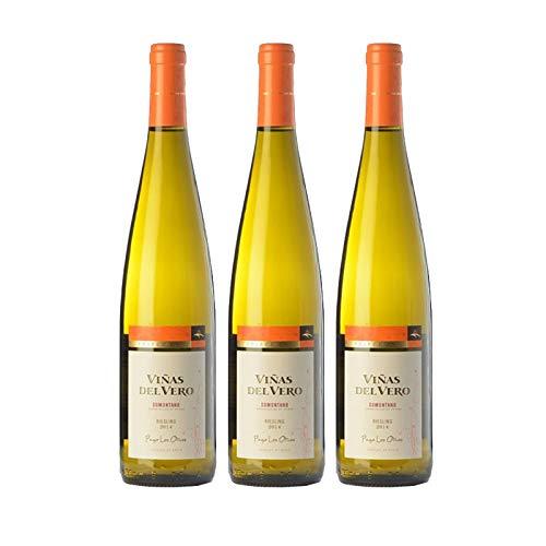 Vino blanco Viñas del Vero Riesling Coleccion de 75 cl - D.O. Somontano - Bodegas Gonzalez Byass (Pack de 3 botellas)