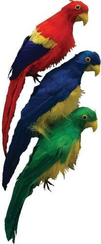 "12"" Artificial Colorful Feathered Parrot Bird"