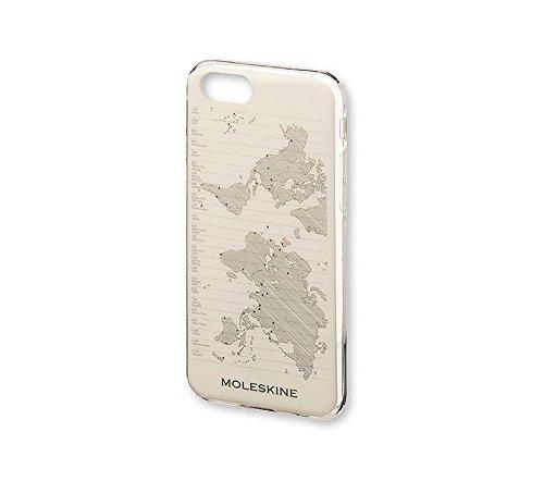Moleskine - Carcasa Rígida Clásica Para IPhone 6/6s/7/8, Funda Rígida de Protección Para Smartphone, Incluye Agenda Volant XS Para Notas - Transparente - Diseño Mapa del Mundo