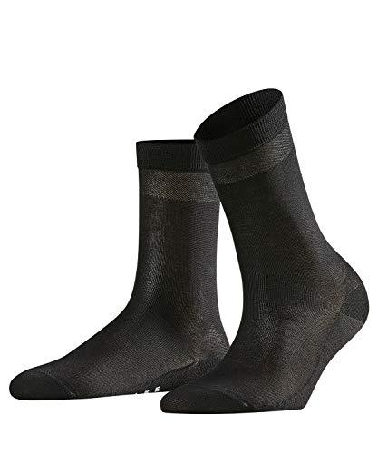 FALKE Damen Socken Cotton Delight - Baumwollmischung, 1 Paar, Schwarz (Black 3009), Größe: 41-42