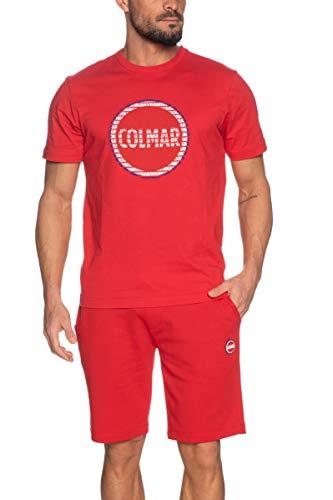 Colmar T Shirt a Manica Corta Uomo Originals Rossa