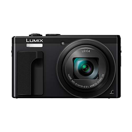 Panasonic Lumix TZ80 | Appareil Photo Compact Zoom Puissant (Capteur 18MP, Zoom LEICA 30x F3.3-6.4, Viseur, Ecran tactile, Vidéo 4K, Stabilisation) Noir – Version Française