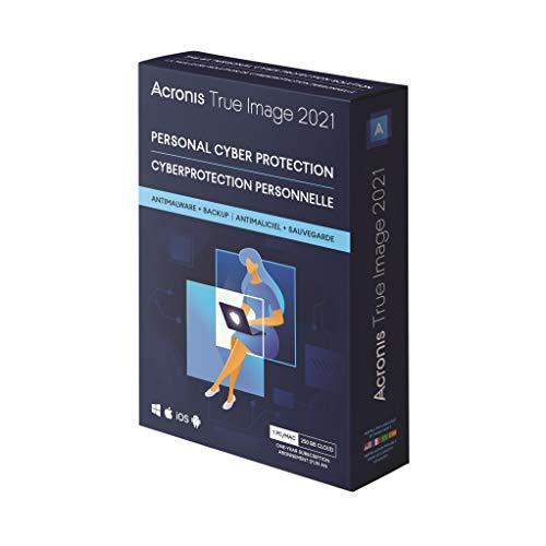 Acronis True Image 2021 Cyber Protection Personale, Backup e Antivirus Integrati con 250 GB di Storage nel Cloud, 1 PC/Mac, Dispositivi Android/iOS Illimitati, 1 Anno