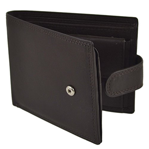 Mens Soft Tabbed Bi Fold Leather Wallet by Oakridge Nevada Collection Gift