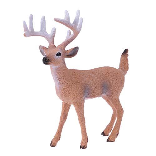 BESTOYARD Rentier Figur Elch Hirsch Figur Weihnachten Tierfigur Dekofigur Weihnachtsfigur Xmas Party Deko Tischdeko Winterdeko Weihnachtsdeko (männliche raue Oberfläche Muster)
