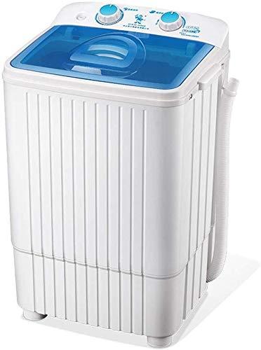 QUZHCP Lavadora portátil, Semi-automática Lavadora, Compacto 4,5 Kg Capacidad De Lavandería Lavadora Spin, La Cubierta Transparente Visible
