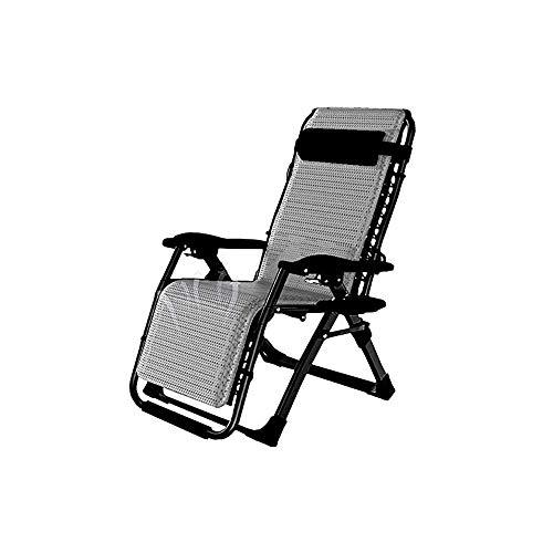 Qdesign Patio Salón Silla reclinable reclinables Tumbona con el Titular de la Taza y del Amortiguador de la Piscina del Patio Trasero de Playa Pies Antideslizantes
