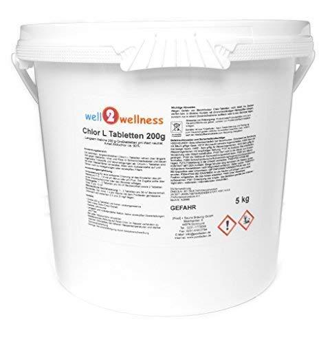 well2wellness Cloro L Tabletas 200g - - Pastillas de Cloro de Disolución...