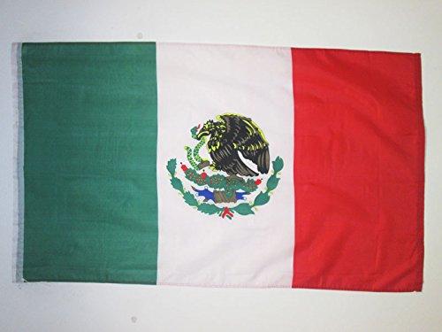 AZ FLAG Bandera de MÉXICO 150x90cm Especial hinchas - Bandera Mexicana 90 x 150 cm
