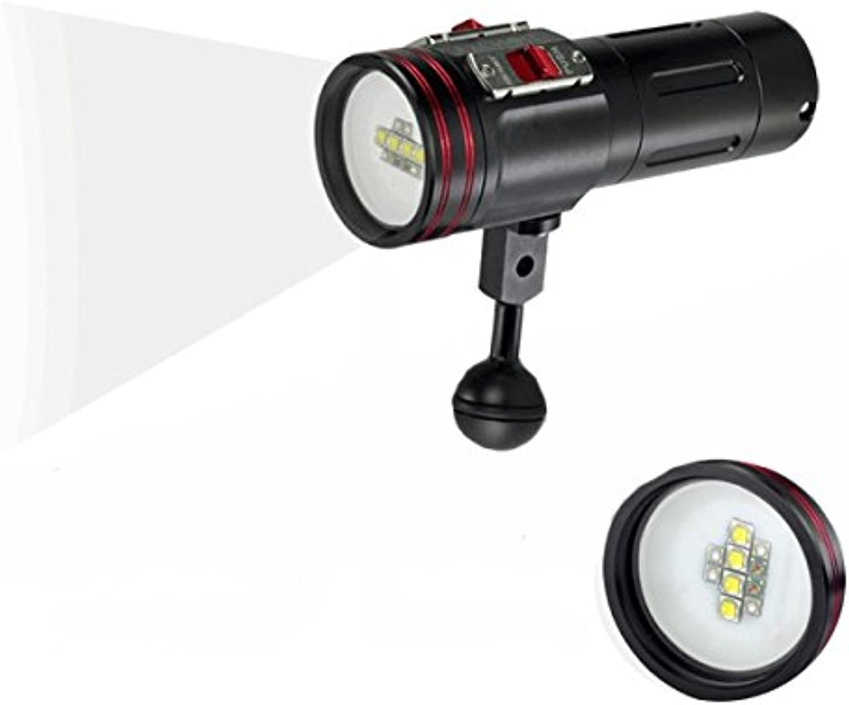 Ochoos W40VR 100M Video Photograpy Diving 4 color LED Flashlight