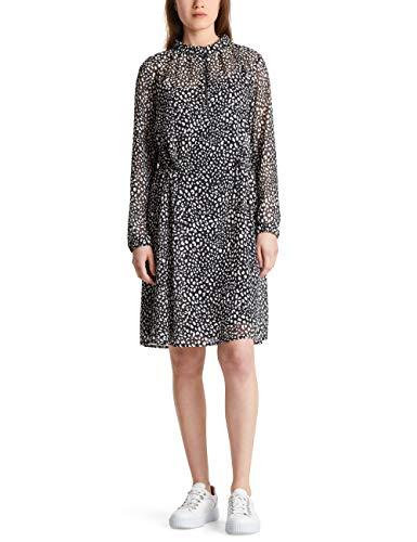 Marc Cain Sports Damen MS 21.11 W04 Kleid, Mehrfarbig (Black and White 915), 40 (Herstellergröße: 4)
