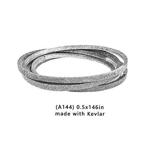 "Cinturón cortacésped Kevlar para CINTURÓN CUBIERTA DE SEGADORA JOHN DEERE M154621- SE ADAPTA A X300 X304 X310 EZTRAK Z245 (1/2""x 146"") A144"