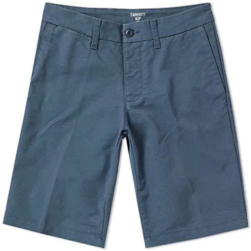 Carhartt Slant Pocket Chino Lamar Sid Short in Stone Blue gespült Gr. W30, blau