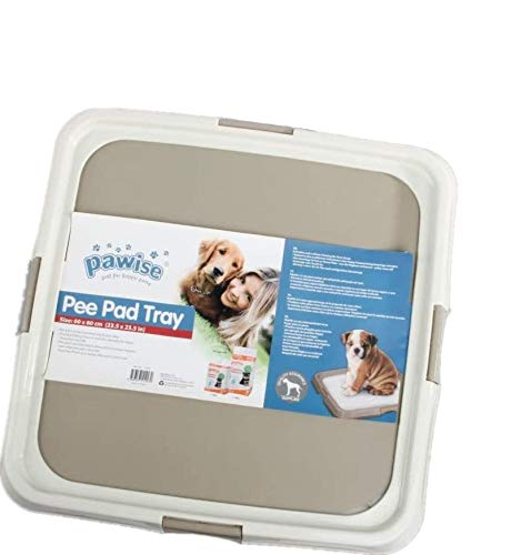 PAWISE Pee Pad Holder - Puppy Training Pads - Best Portable Potty Trainer - Indoor Dog Potty - Puppy Essentials - Dog Training Holder - Puppy Pad Holder (23.5