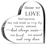 Eternal souvenir: you will receive 1 piece acrylic heart memorial table decoration that can be applied to express your condolences to a friend or family member who lost their loved one, and it is allowed for you to directly place on the counter; Warm...