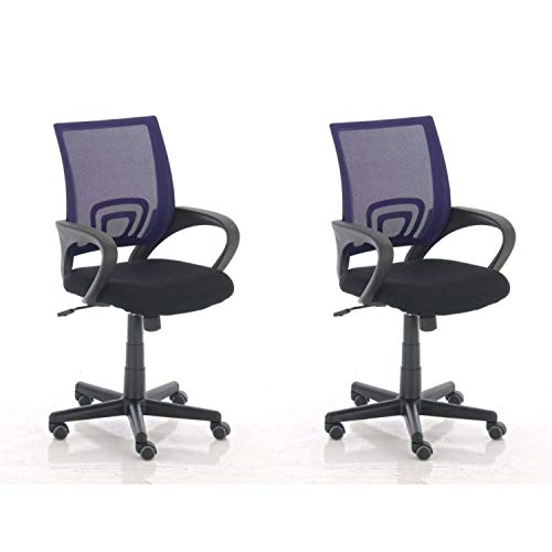 Lüllmann Genius - Silla giratoria de oficina (2 unidades), color morado