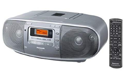 Panasonic RX-D50AEG-S - Reproductor de CD, radio, casete (60 W RMS, radio FM/AM), color plateado