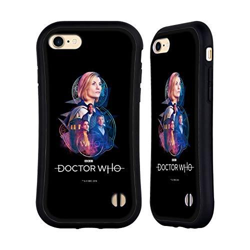 Head Case Designs Licenciado Oficialmente Doctor Who Ryan, Yaz, Graham & Jodie 3 Gráficos de la Temporada 12 Carcasa híbrida Compatible con Apple iPhone 7 / iPhone 8 / iPhone SE 2020