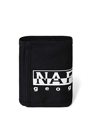 Napapijri Happy Wallet Re - Portamonete 27 cm, Nero (Nero) - NP0A4EA5