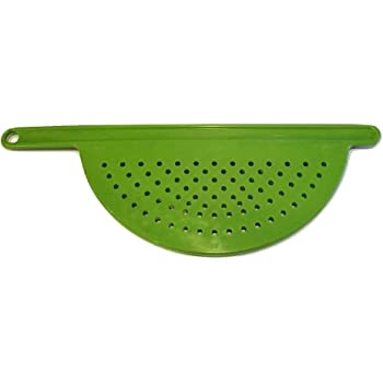 """Hand Held Pot Drainer with Handle - Fits up to 9"""" Pots - Great for Noodles, Pasta, Fruit, Veggies and more! (1 pack)"""