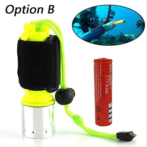 DBSCD Camping Taschenlampe 2000Lm T6/Q5 LED wasserdichte Taucher Tauchflasche Unterwasser Blitzlicht Taschenlampe T6 B.