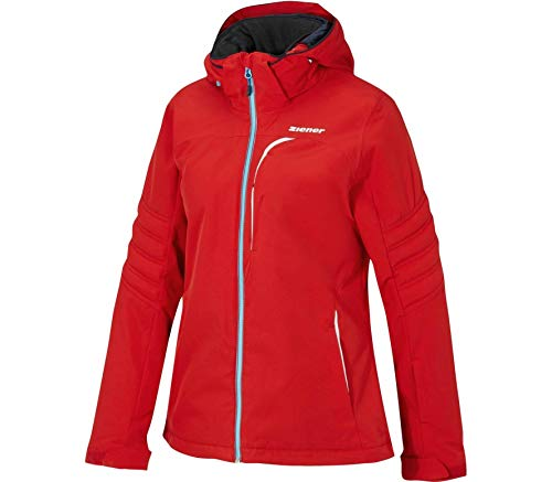 Ziener Damen TARJA Jacket ski Skijacke, red pop, 40