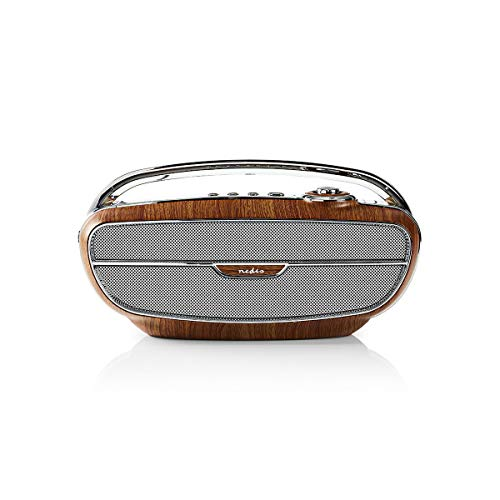 Nedis FM Radio 60W Bluetooth braun/Silber