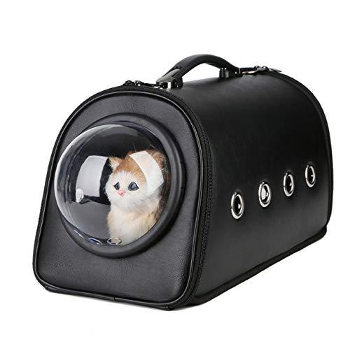 El Gato y el Perro Mensajero Bolsa, contenedor de Cuero Transporte de Mascotas, Simple y Elegante, Transparente y Transpirable de diseño, Equipaje de arnés