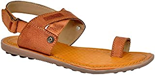 Lee Grain Pure Leather Brown Casual Sandal