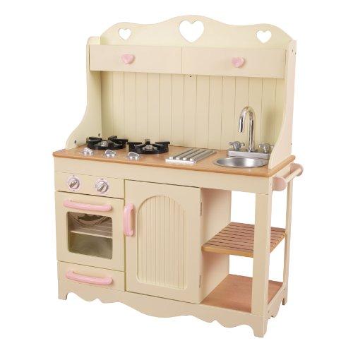KidKraft 53151 Prairie Prärie-Spielküche aus Holz in Weiß Landhaus Kinderküche