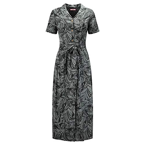 Joe Browns Damen Leafy Shirt Dress Lässiges Kleid, Schwarz, 36